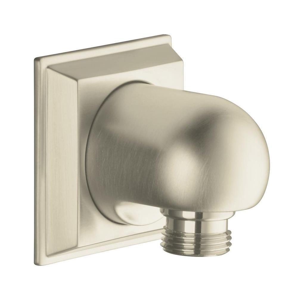 null Memoirs Wall-Mount Supply Elbow in Brushed Nickel