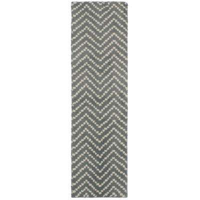 Chevron Tan 2 Ft X 7 Runner Rug