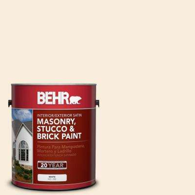 1 gal. #70 Linen White Satin Interior/Exterior Masonry, Stucco and Brick Paint