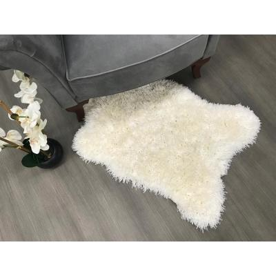 Pure Fuzzy Flokati Lambskin Design Ivory 2 ft. x 3 ft. Faux Sheepskin Indoor Kids Area Rug