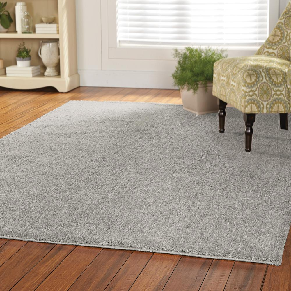 Home Decorators Collection Ethereal Shag Grey 2 Ft X 4 Indoor Area Rug