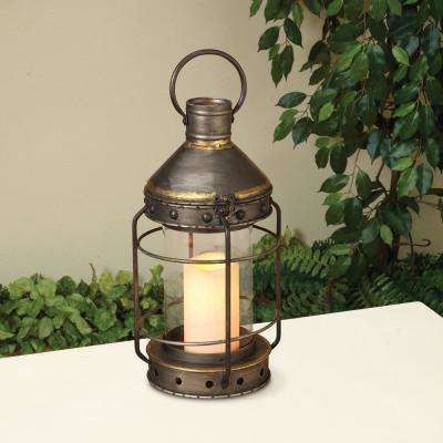 Antique Silver Ornate Lantern with Steepled Roof