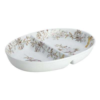 Dinnerware Fruitful Nectar Porcelain Stoneware 11 in. Divided Dish