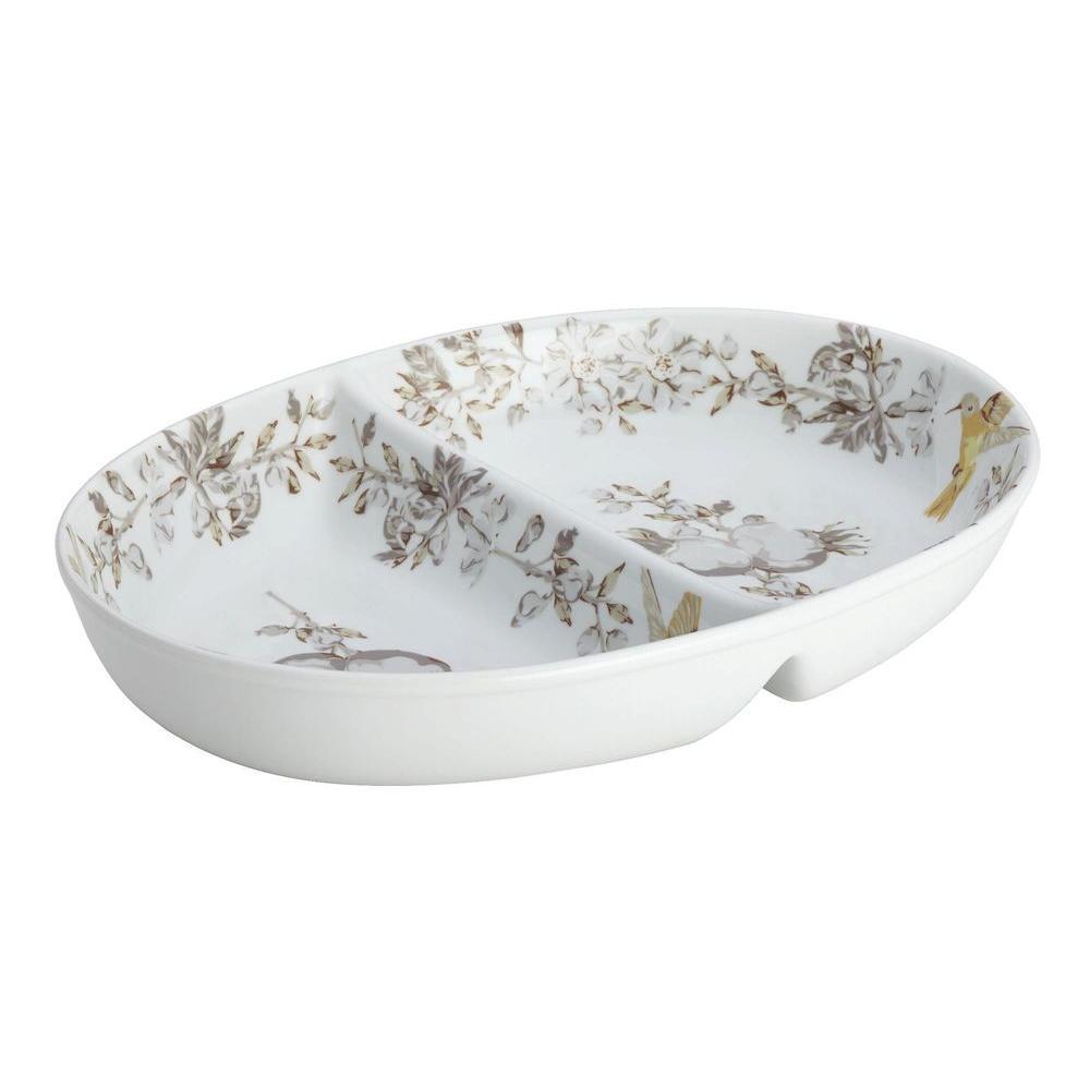 BonJour Dinnerware Fruitful Nectar Porcelain Stoneware 11 in. Divided Dish  sc 1 st  The Home Depot & BonJour Dinnerware Fruitful Nectar Porcelain Stoneware 11 in ...