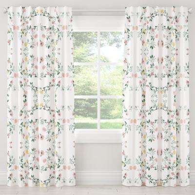 50 in. W x 96 in. L Blackout Curtain in Kaleidoscope Floral Blush