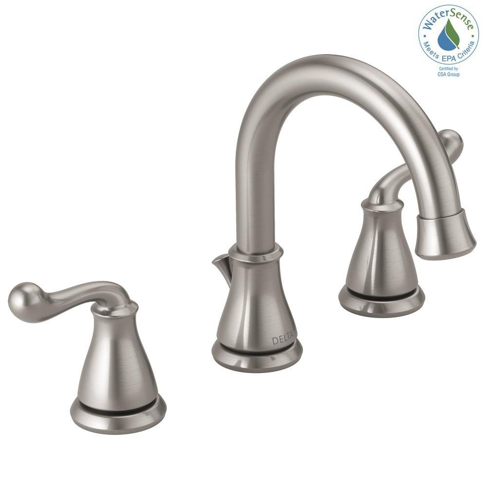 Delta Southlake 8 in. Widespread 2-Handle Bathroom Faucet in ...