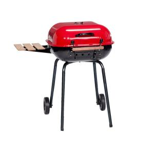 Americana Swinger Charcoal Grill in Red by Americana