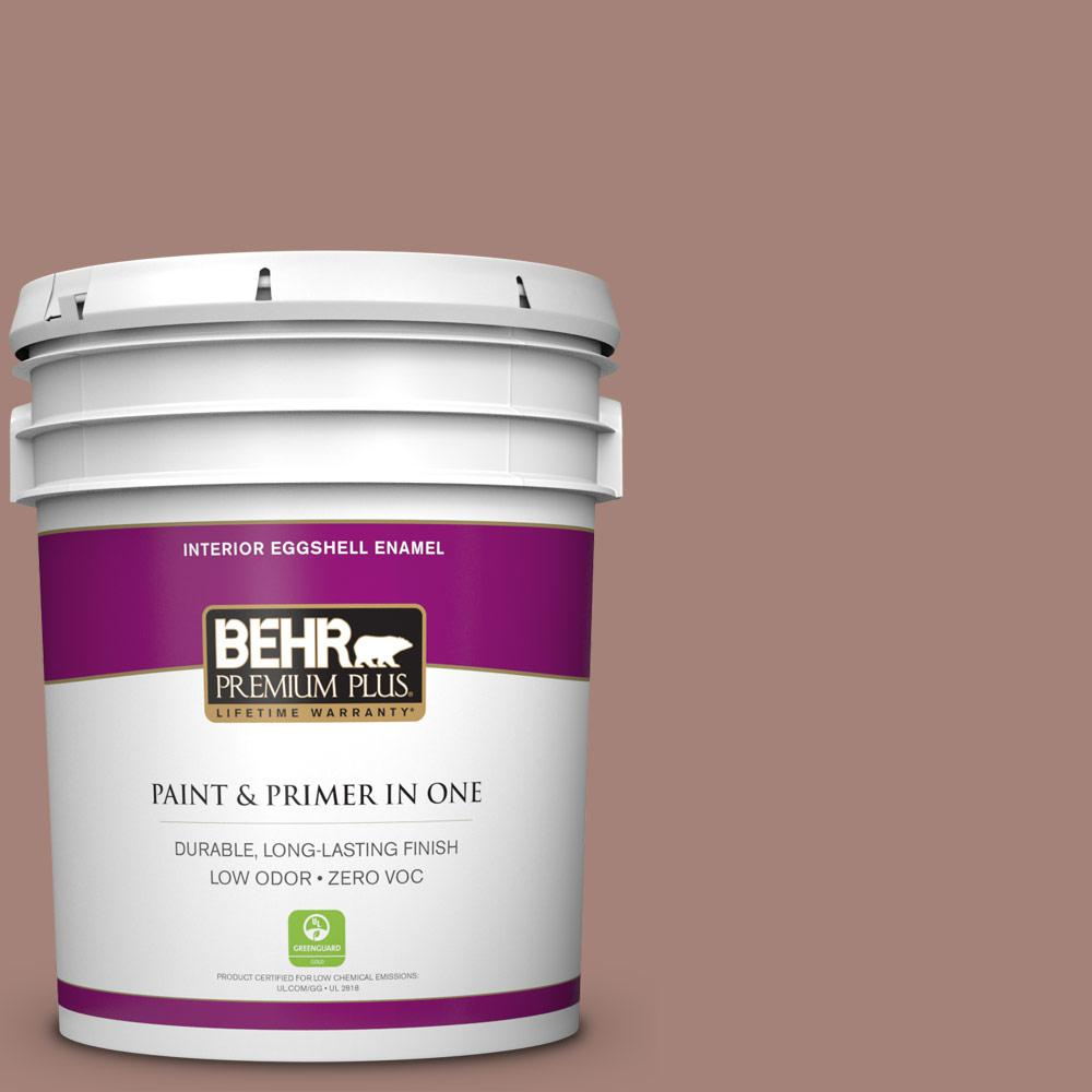 BEHR Premium Plus Home Decorators Collection 5-gal. #HDC-NT-07 Hickory Branch Zero VOC Eggshell Enamel Interior Paint