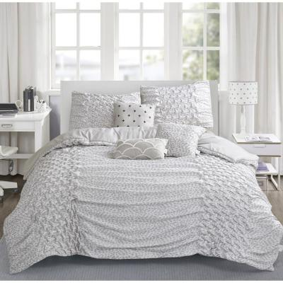 Carnival 6-Piece Taupe Queen Comforter Set