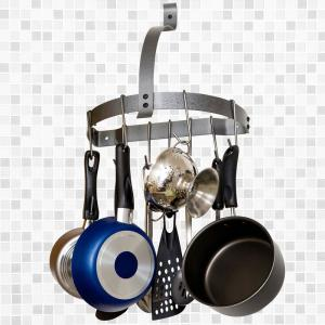 Rack It Up! Half Moon Gray Wall Mounted Pot Rack by Rack It Up!