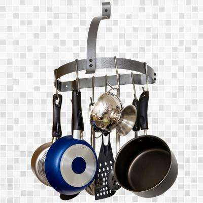 Half Moon Gray Wall Mounted Pot Rack