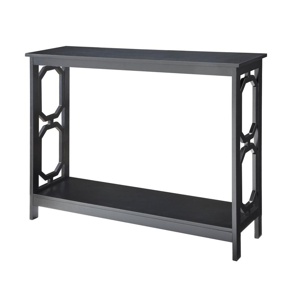 Omega Black Console Table