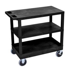 Luxor EC 32 inch Utility Cart with 5 inch Casters in Black by Luxor