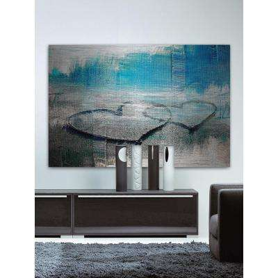 """30 in. H x 45 in. W """"Hearts Connected"""" by Parvez Taj Printed Brushed Aluminum Wall Art"""