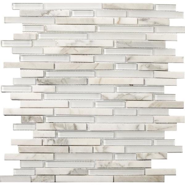 Lucente Ambrato Gloss/Matte Mix 12.05 in. x 12.05 in. x 8mm Glass Mesh-Mounted Mosaic Tile (1.07 sq. ft.)