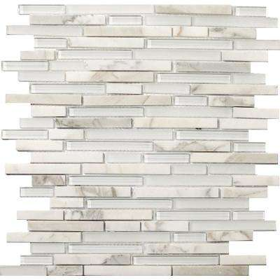 Lucente Ambrato Gloss/Matte Mix 12.05 in. x 12.05 in. x 8mm Glass Mesh-Mounted Mosaic Tile