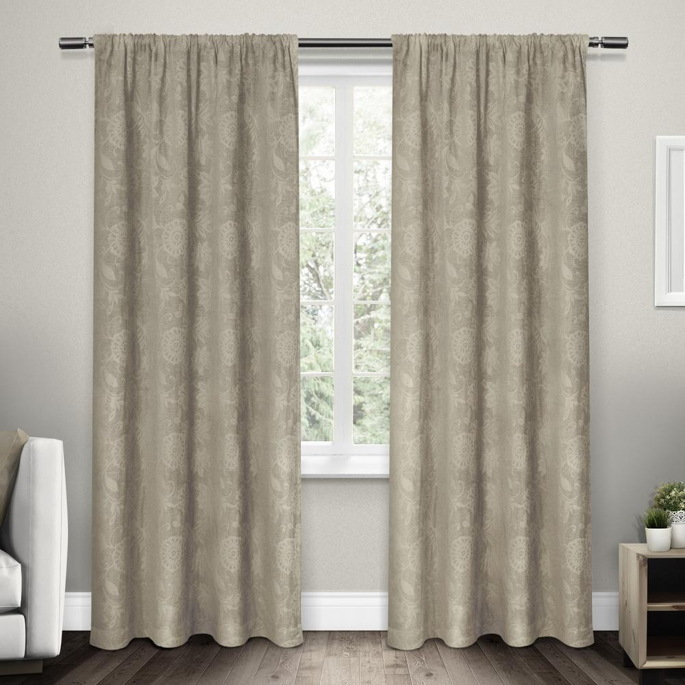 dollclique jacquard taupe weight drapes ideas heavy elle scroll floral com chenille curtains rod heavyweight pocket