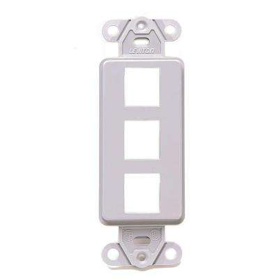 Decora 1-Gang QuickPort 3-Port Insert, Gray