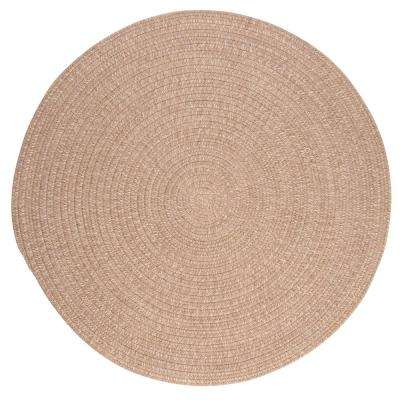 Cicero Oatmeal 6 ft. x 6 ft. Round Area Rug