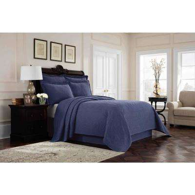 Williamsburg Richmond Blue King Bed Skirt