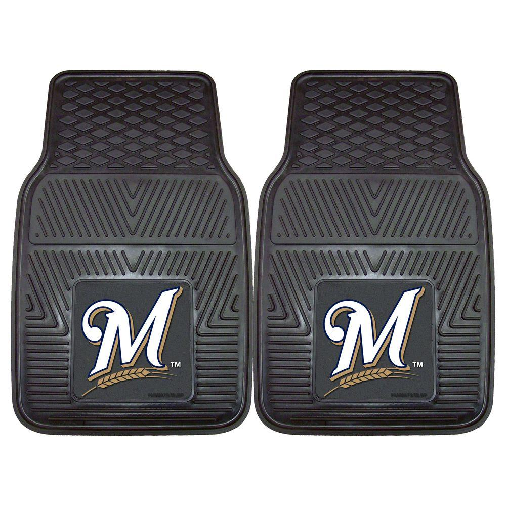 Milwaukee Brewers 18 in. x 27 in. 2-Piece Heavy Duty Vinyl