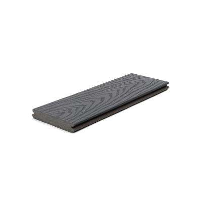 Select 1 in. x 5.5 in. x 1 ft. Winchester Grey Composite Decking Board Sample