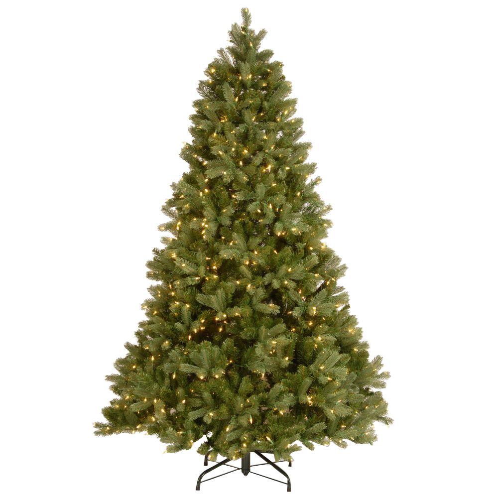 national tree company 6 12 ft feel real downswept douglas fir hinged