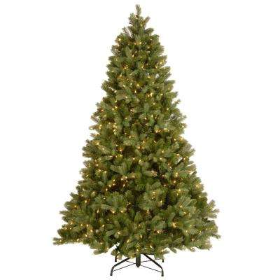 6-1/2 ft. Feel Real Downswept Douglas Fir Hinged Artificial Christmas Tree with 650 Clear Lights