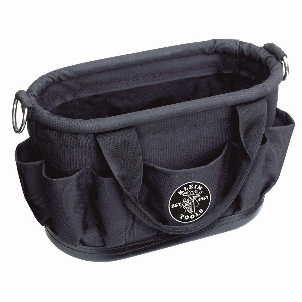 15-1/2 in. Tool Tote with 7 Pockets, Black