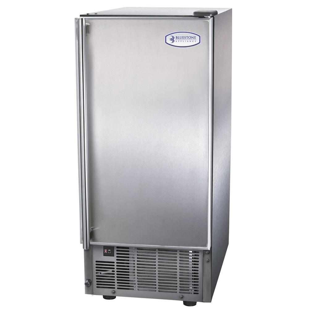 Bluestone Appliance 14.6 in. 44 lb. Outdoor Icemaker in Stainless Steel-DISCONTINUED