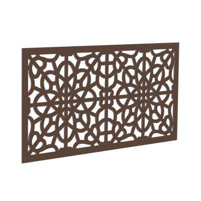 4 ft. x 2 ft. Brazilian Walnut Fretwork Polymer Decorative Screen Panel
