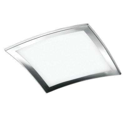 4-Light Chrome Ceiling Mount and Frosted Glass