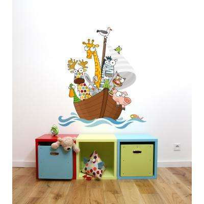 """(35 in x 40 in) Multi-Color """"Funny Ship's Boys"""" Kids Wall Decal"""