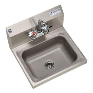 h30 series wall mount stainless steel 17x15 5x13 in  2 hole single wall mount stainless steel 17 in  2 hole single bowl kitchen sink      rh   homedepot com