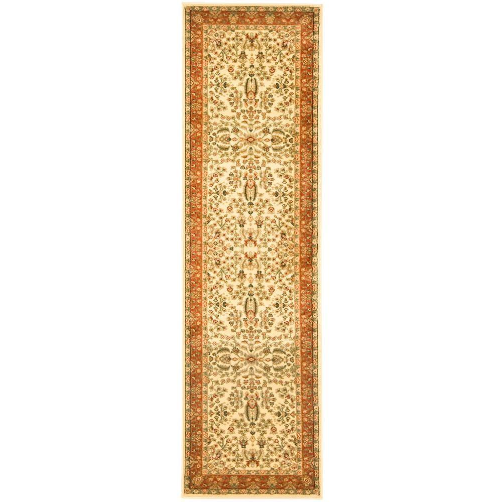 Lyndhurst Ivory/Rust 2 ft. x 10 ft. Runner Rug