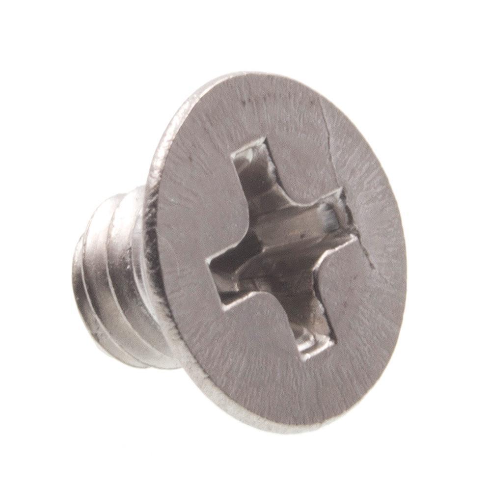 Prime-Line M4-0.7 x 5 mm Grade A2-70 Metric Stainless Steel Phillips Drive Flat Head Machine Screws (10-Pack)