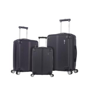 Berlin 3-Piece Black Hardside Non-Expandable Luggage Set