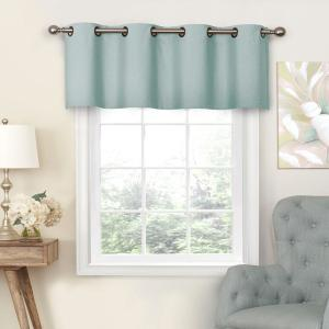 Nadya 18 in. L Poly/Cotton Valance Smokey Blue