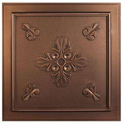 Belfast 2 ft. x 2 ft. Lay-in or Glue-up Ceiling Tile in Antique Bronze (40 sq. ft. / case)