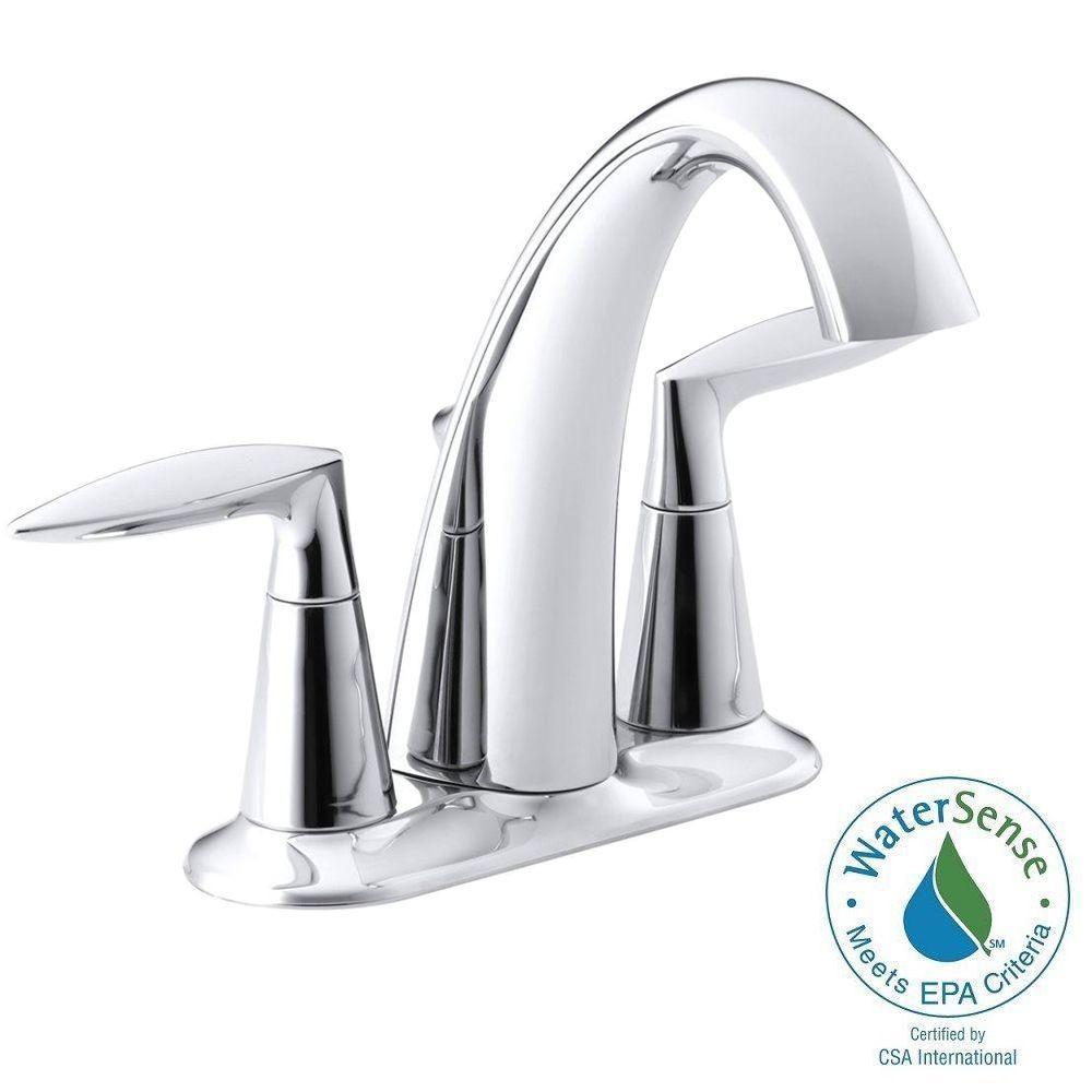 KOHLER Alteo 4 in. Centerset 2-Handle Bathroom Faucet in ...