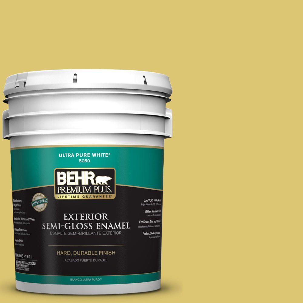BEHR Premium Plus 5-gal. #P330-5 Midori Semi-Gloss Enamel Exterior Paint