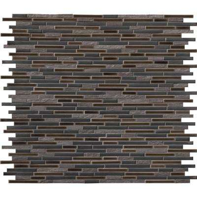 Titan Interlocking 12 in. x 12 in. x 8 mm Textured Porcelain and Stone Mesh Mounted Mosaic Tile (1 sq. ft.)