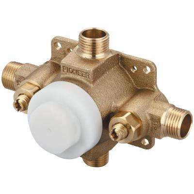 Pioneer 1/2 in. Pressure Balance Rough Valve with Combo CXC and IPS Inlet and Outlet Connections