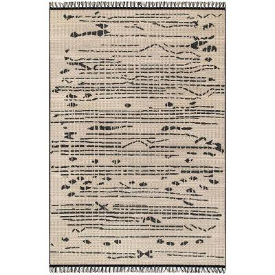 Claudette Modern Abstract Black 8 ft. x 11 ft.  Indoor/Outdoor Area Rug