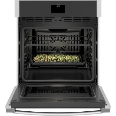27 in. Smart Single Electric Wall Oven with Convection Self-Cleaning in Stainless Steel