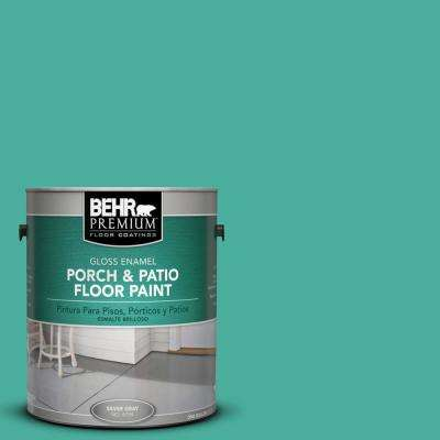 1 gal. #P440-5 Water Park Gloss Interior/Exterior Porch and Patio Floor Paint