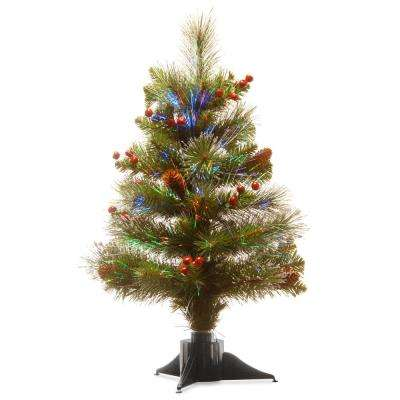 20 in. Fiber Optic Crestwood Spruce Artificial Christmas Tree