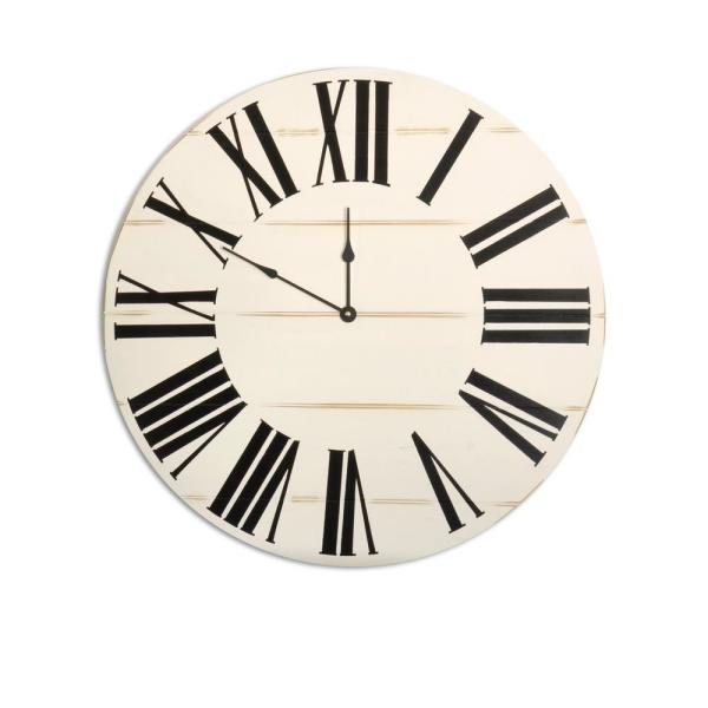 24 in. Oversized Horizontal Farmhouse Wall Clock