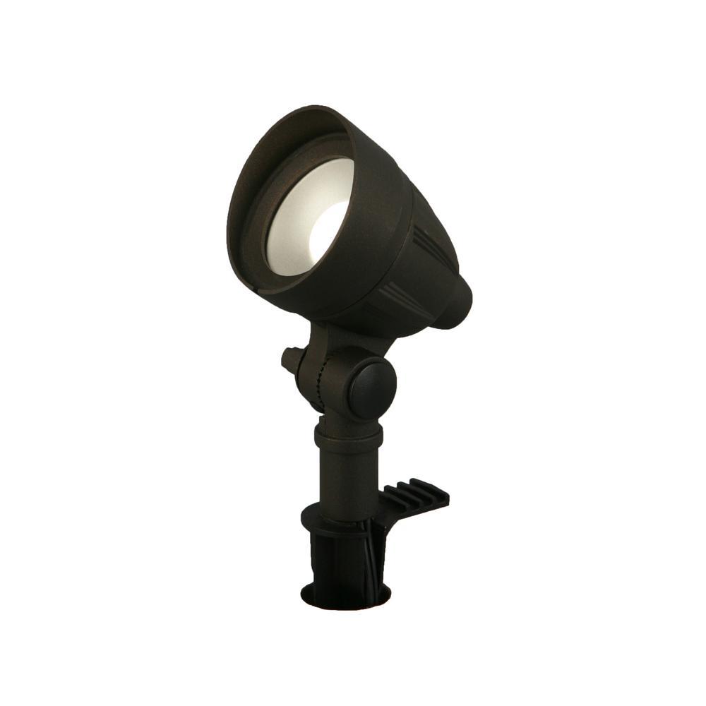 4.5-Watt Millennium Bronze Adjustable Light Color Outdoor Integrated LED Landscape Flood Light