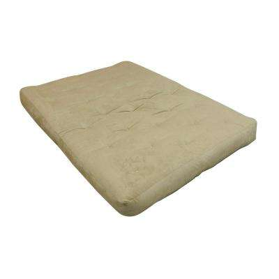 Full 8 in. Foam and Cotton Chocolate Futon Mattress